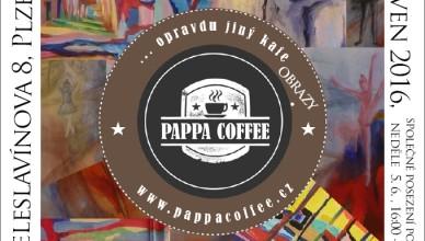 Pozvánka na výstavu v Pappa Coffee 2016